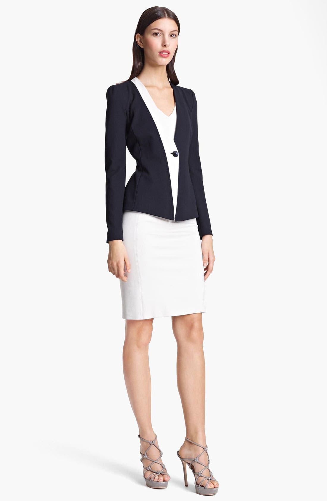 Alternate Image 4  - Armani Collezioni One Button Jersey Jacket