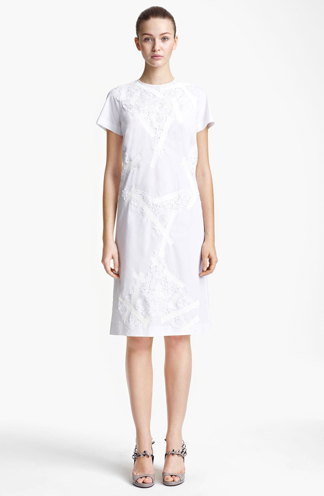 Alternate Image 1 Selected - Christopher Kane Lace & Tape Detail Shift Dress