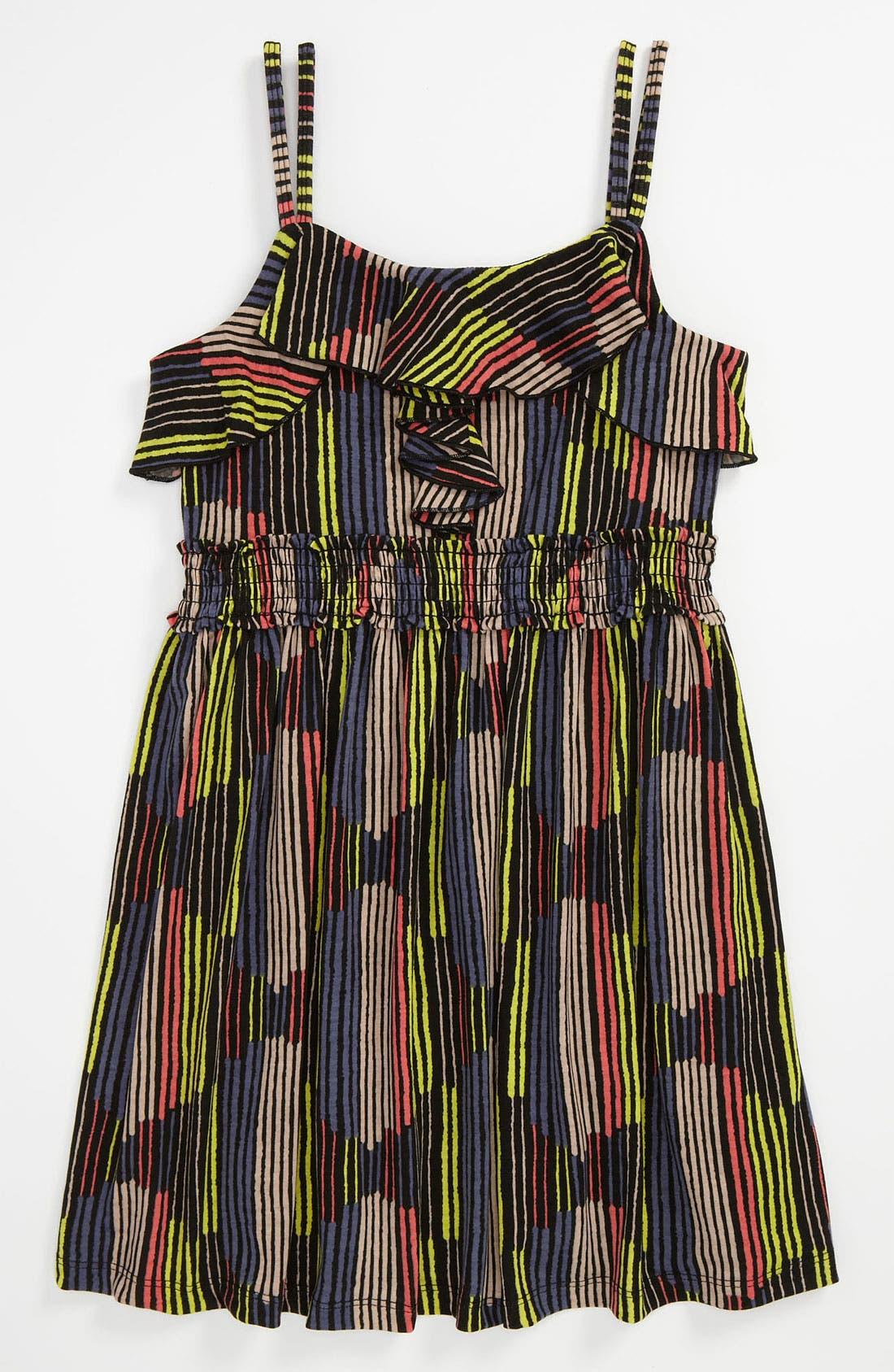 Main Image - Truly Me Stripe Dress (Big Girls)
