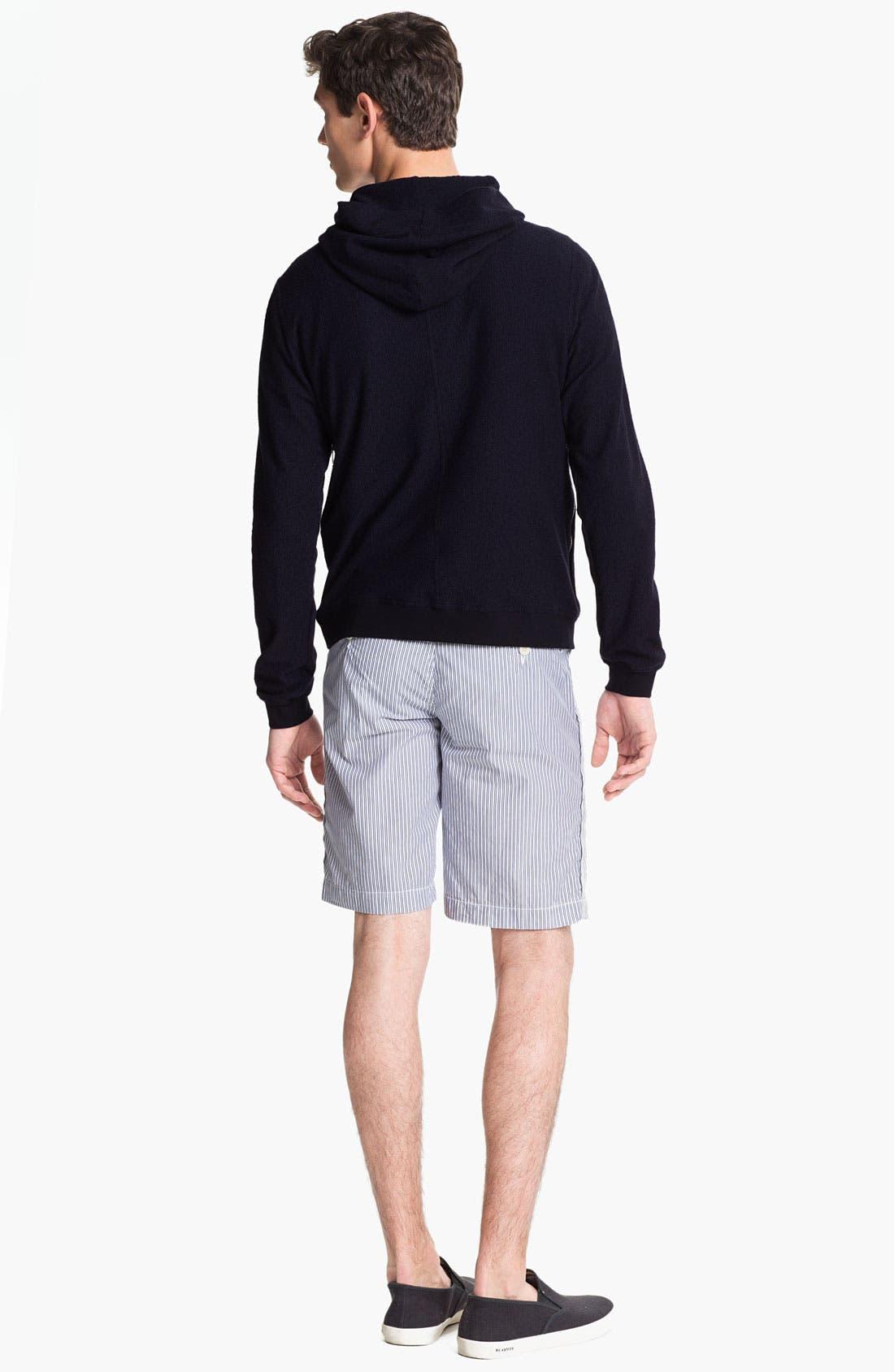 Alternate Image 5  - U Clothing 'Beau' Stripe Pocket Linen & Cotton T-Shirt