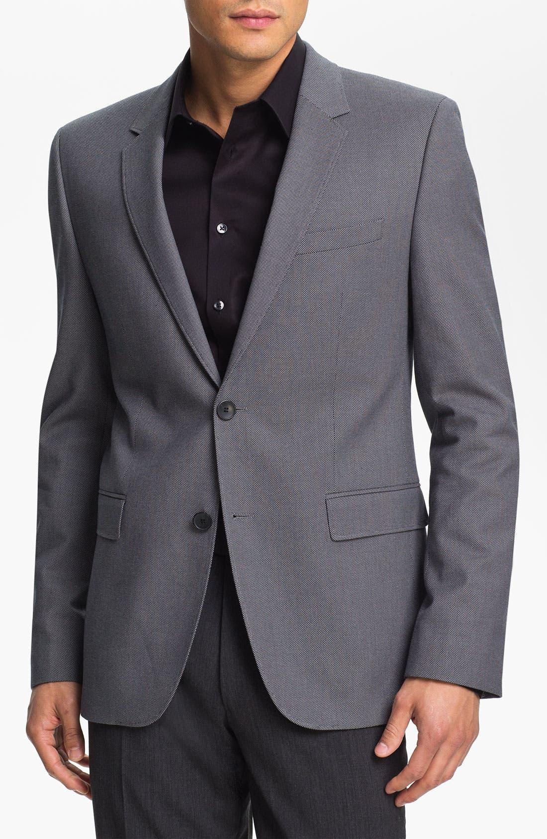 Alternate Image 1 Selected - HUGO 'Aeris' Trim Fit Blazer (Online Only)