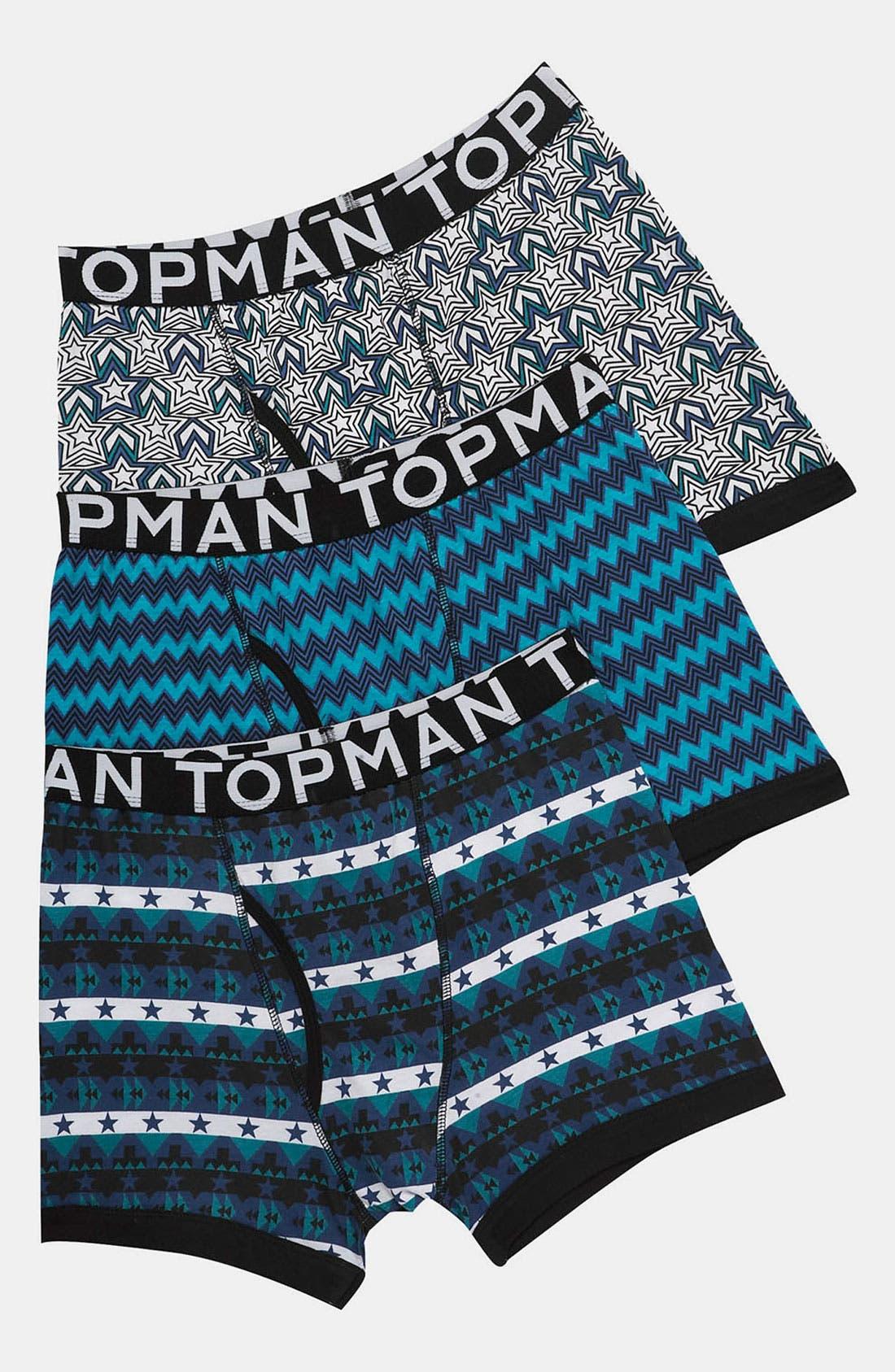 Main Image - Topman Mix Pattern Boxer Briefs (3-Pack)