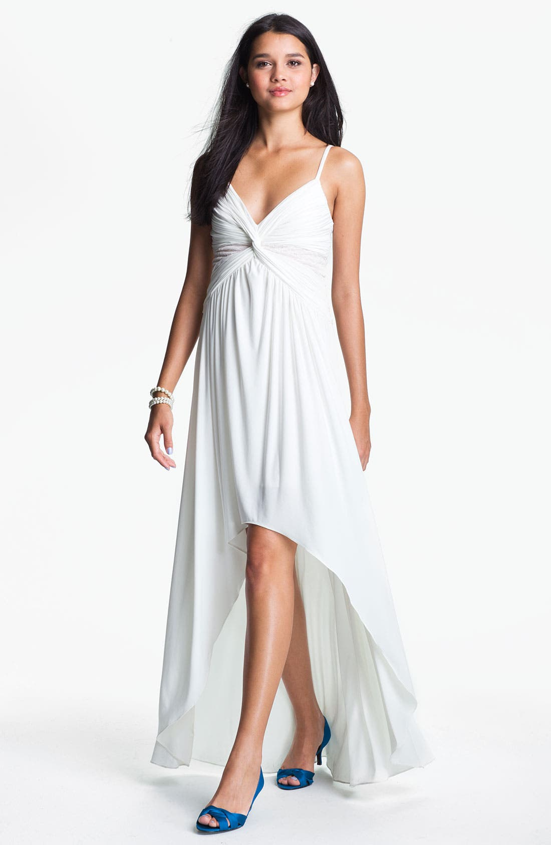 Alternate Image 1 Selected - Max & Cleo Front Twist Jersey Dress