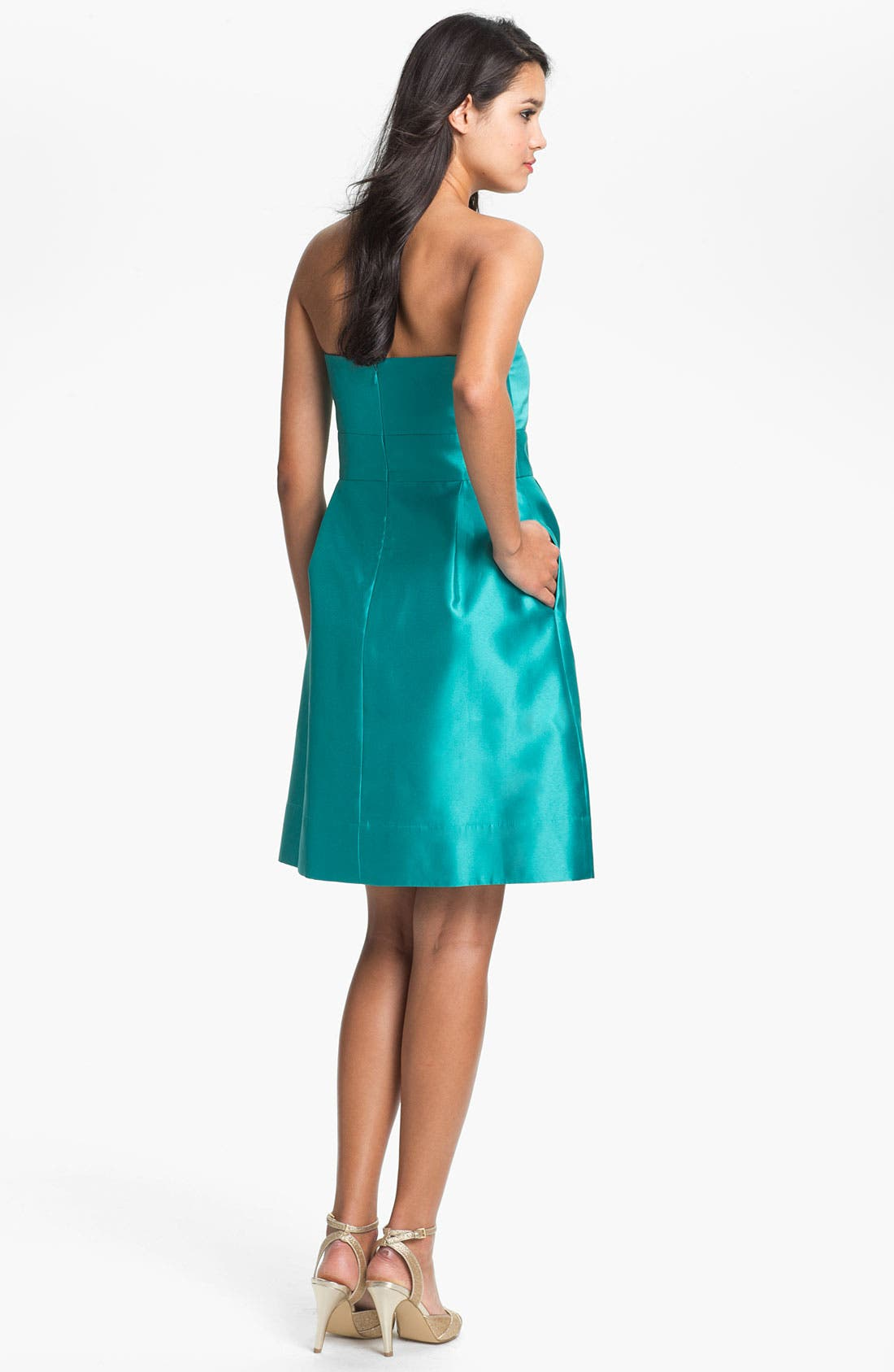Alternate Image 2  - Eliza J  Strapless Sweetheart Fit & Flare Dress