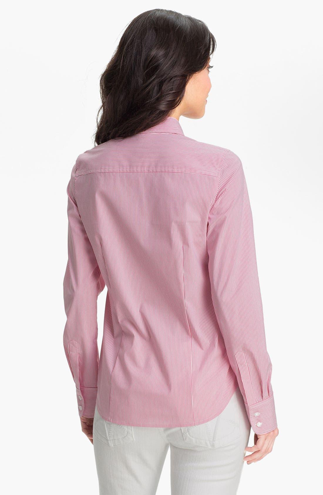 Alternate Image 2  - Halogen® Poplin Shirt (Regular & Petite)