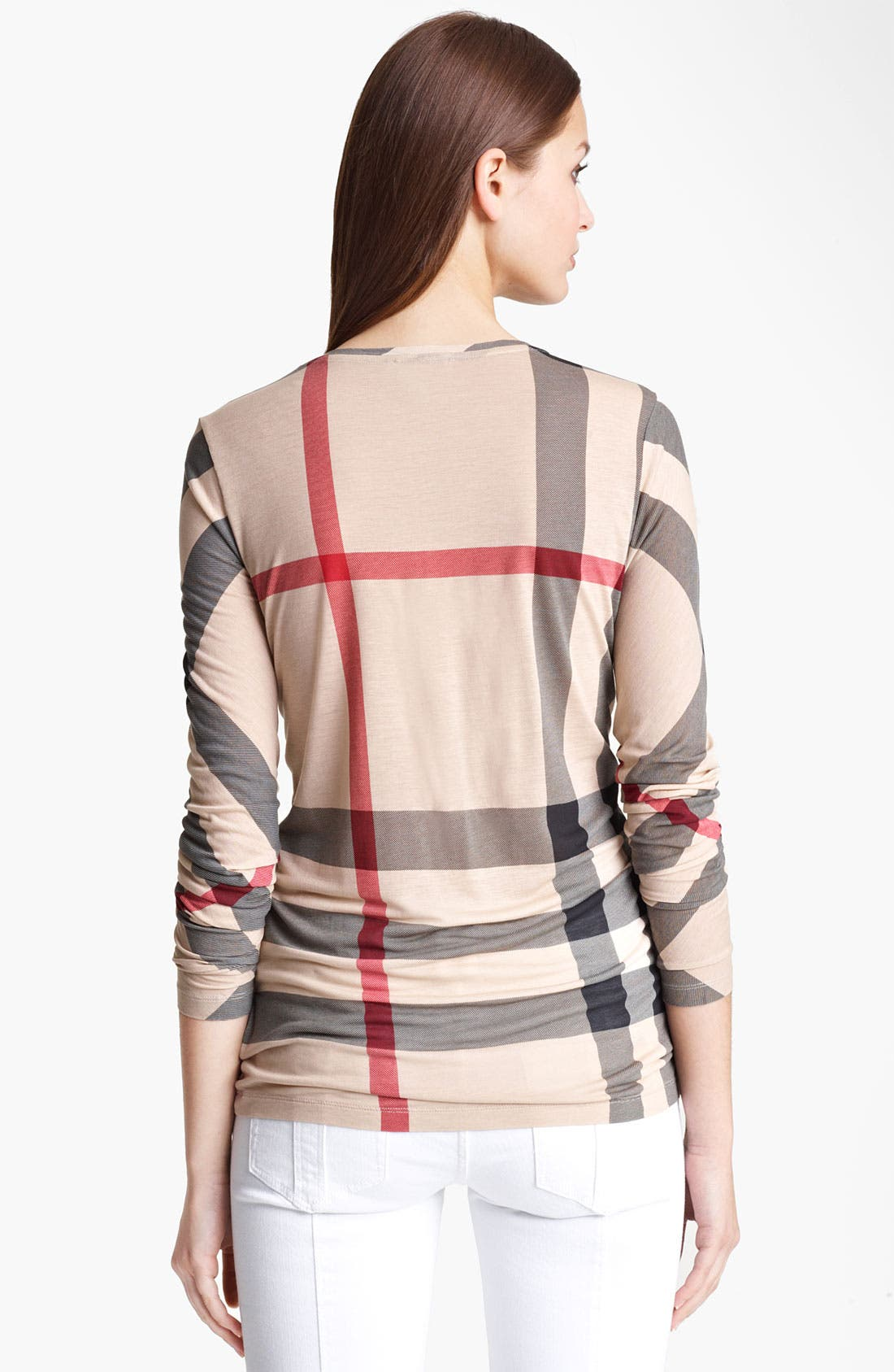 Alternate Image 2  - Burberry Brit Check Print Tee
