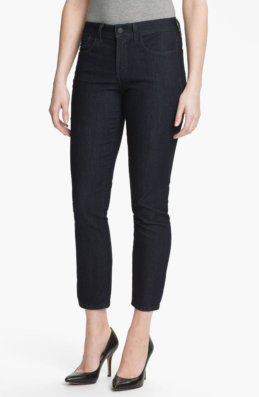 Alternate Image 1 Selected - NYDJ 'Alisha' Stretch Skinny Jeans (Petite)