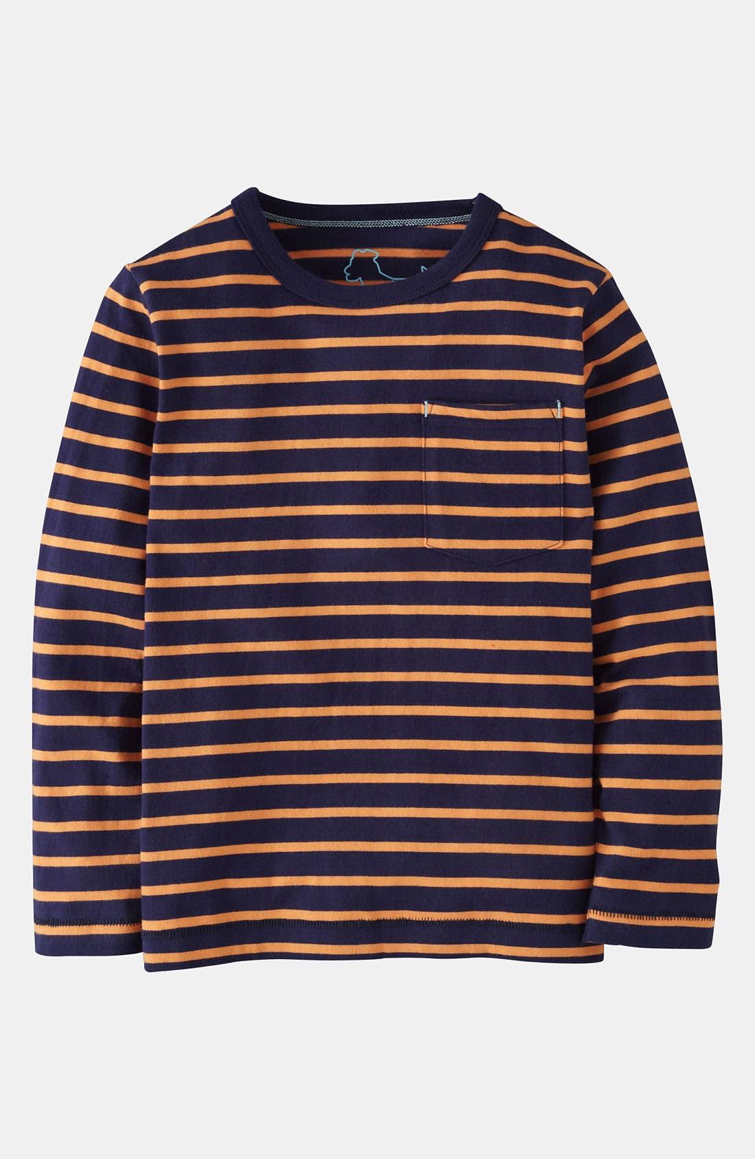 Alternate Image 1 Selected - Mini Boden Stripe T-Shirt (Little Boys & Big Boys)