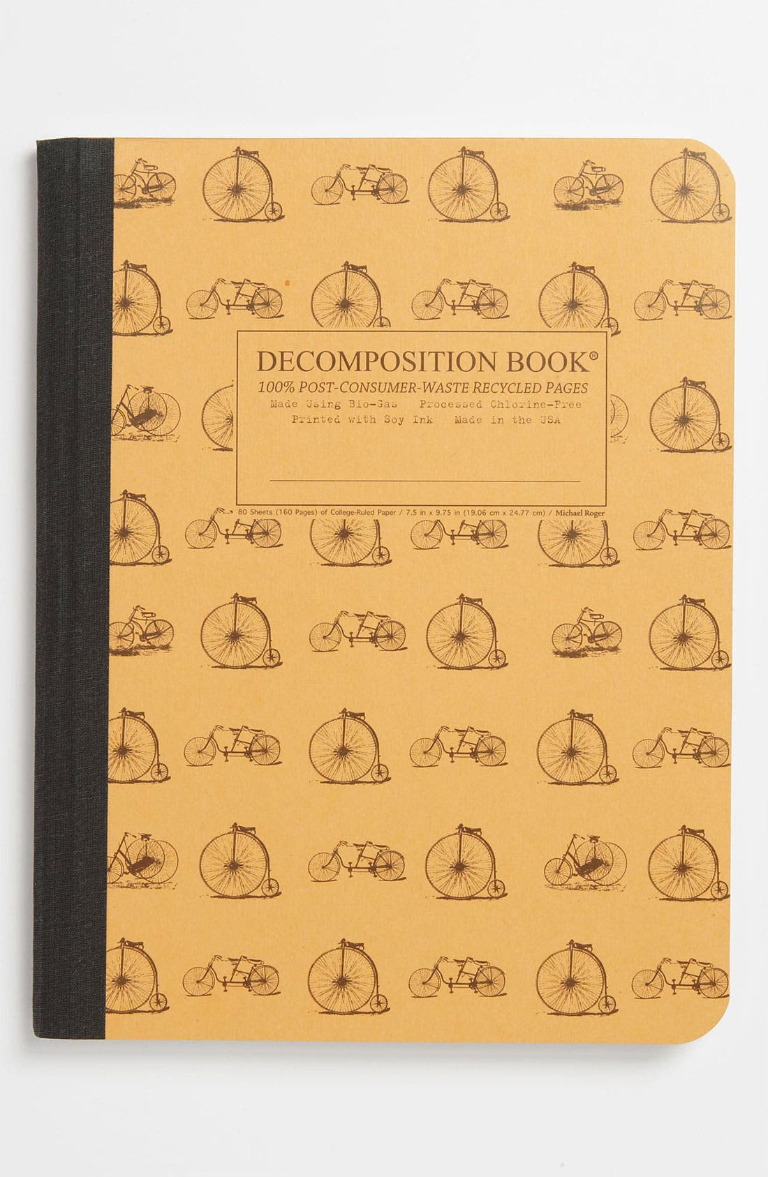 Alternate Image 1 Selected - 'Vintage Bicycles - Decomposition' Recycled Notebook