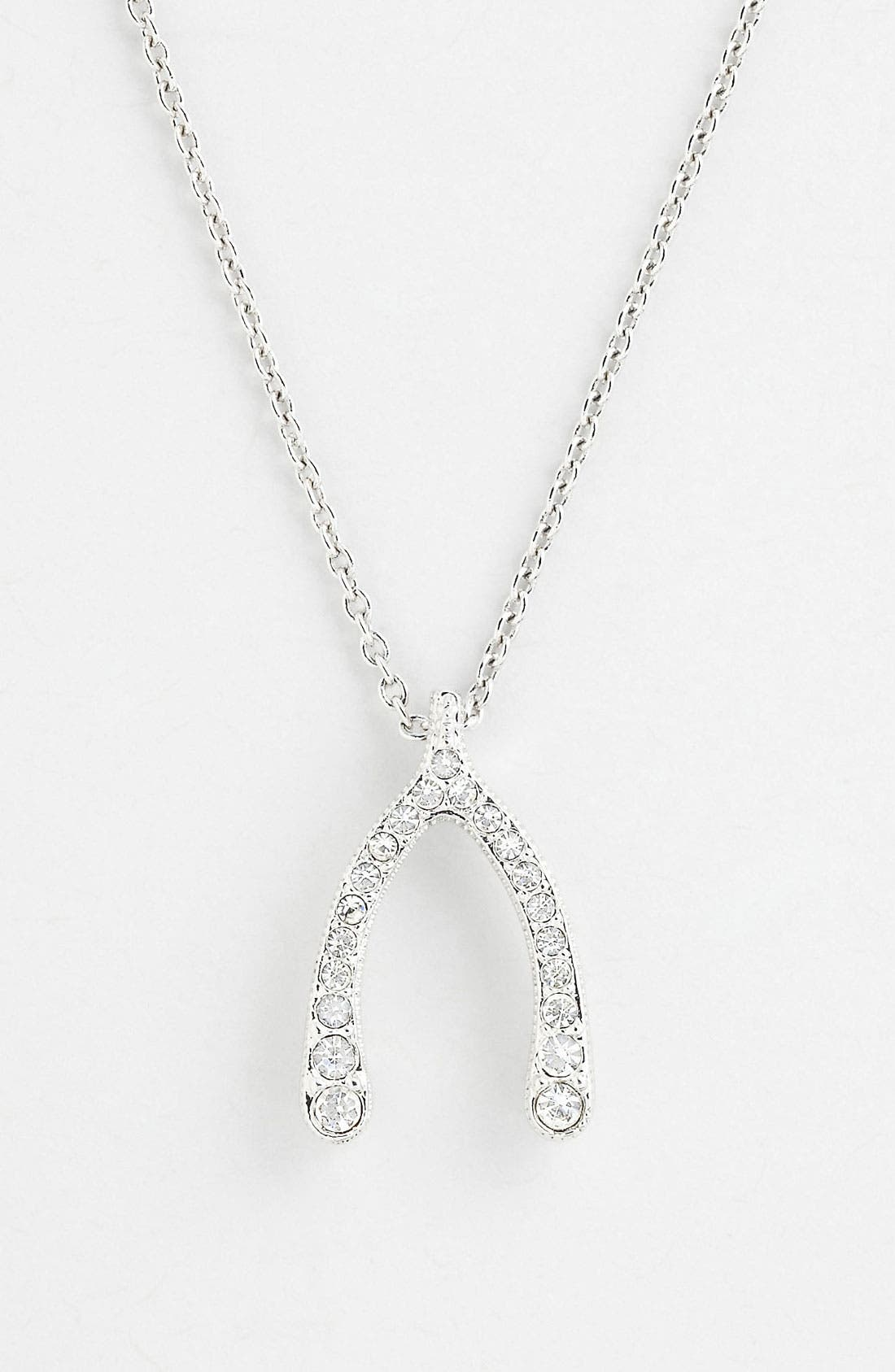 Alternate Image 1 Selected - Nadri 'Wishbone' Pendant Necklace (Nordstrom Exclusive)