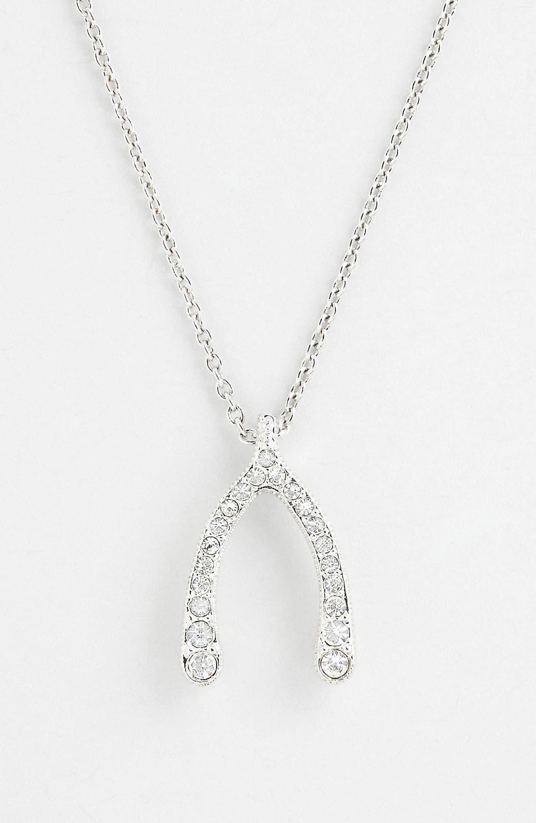 Main Image - Nadri 'Wishbone' Pendant Necklace (Nordstrom Exclusive)