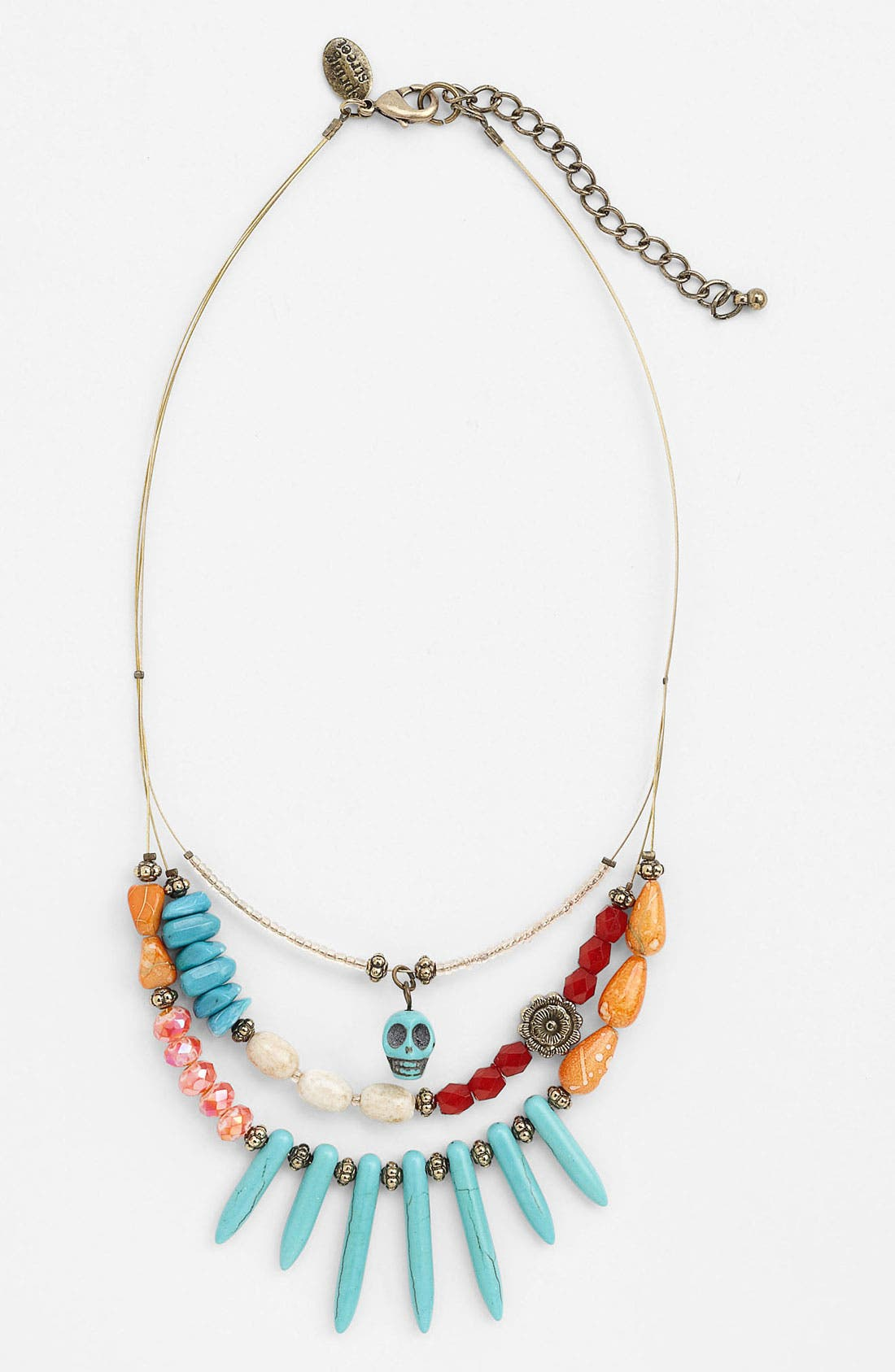 Main Image - Spring Street Multistrand Skull Necklace (Nordstrom Exclusive)
