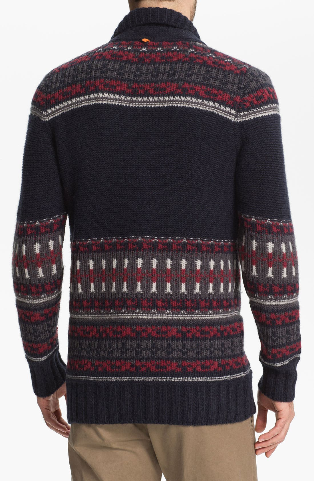 Alternate Image 2  - BOSS Orange 'Abad' Fair Isle Cardigan