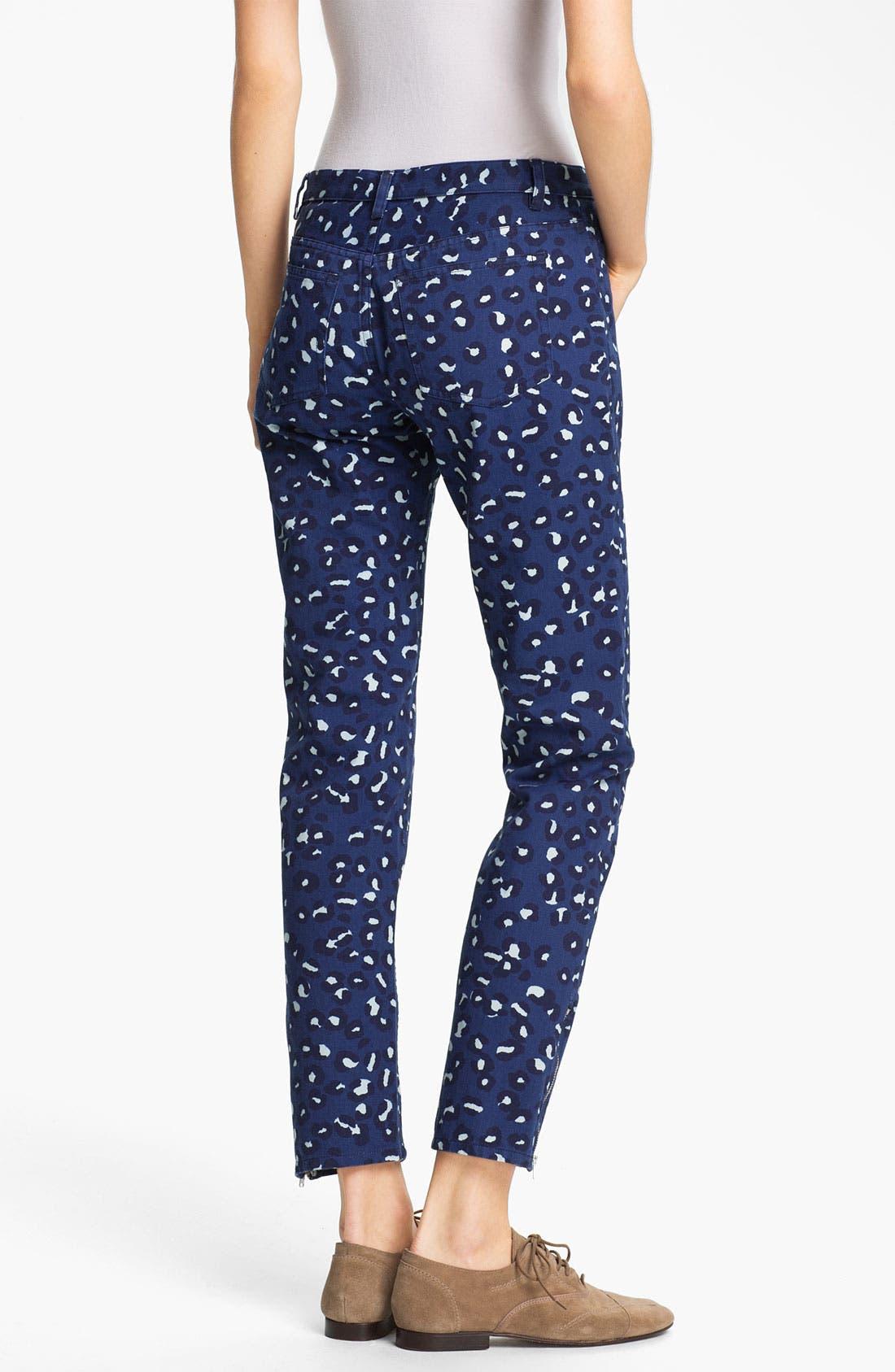 Alternate Image 2  - A.P.C. Leopard Print Ankle Jeans