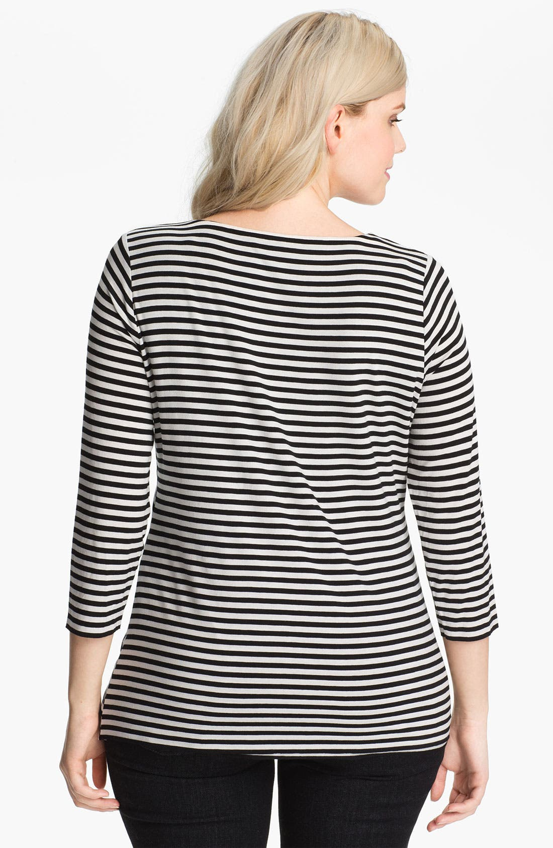 Alternate Image 2  - Vince Camuto Stripe Bandage Top (Plus)