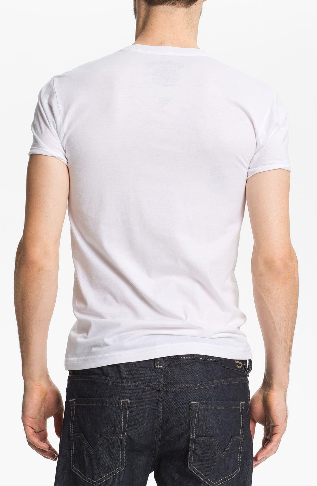 Alternate Image 2  - Bowery Supply 'Polaroid Girl' Graphic V-Neck T-Shirt