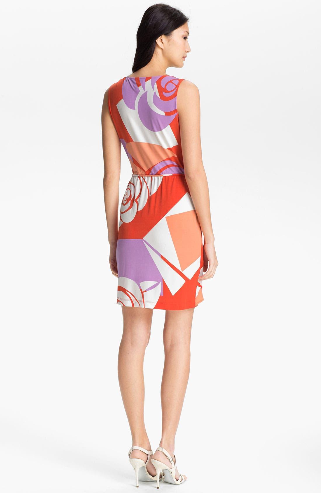 Alternate Image 2  - Donna Morgan 'Tinsley' Print Faux Wrap Dress