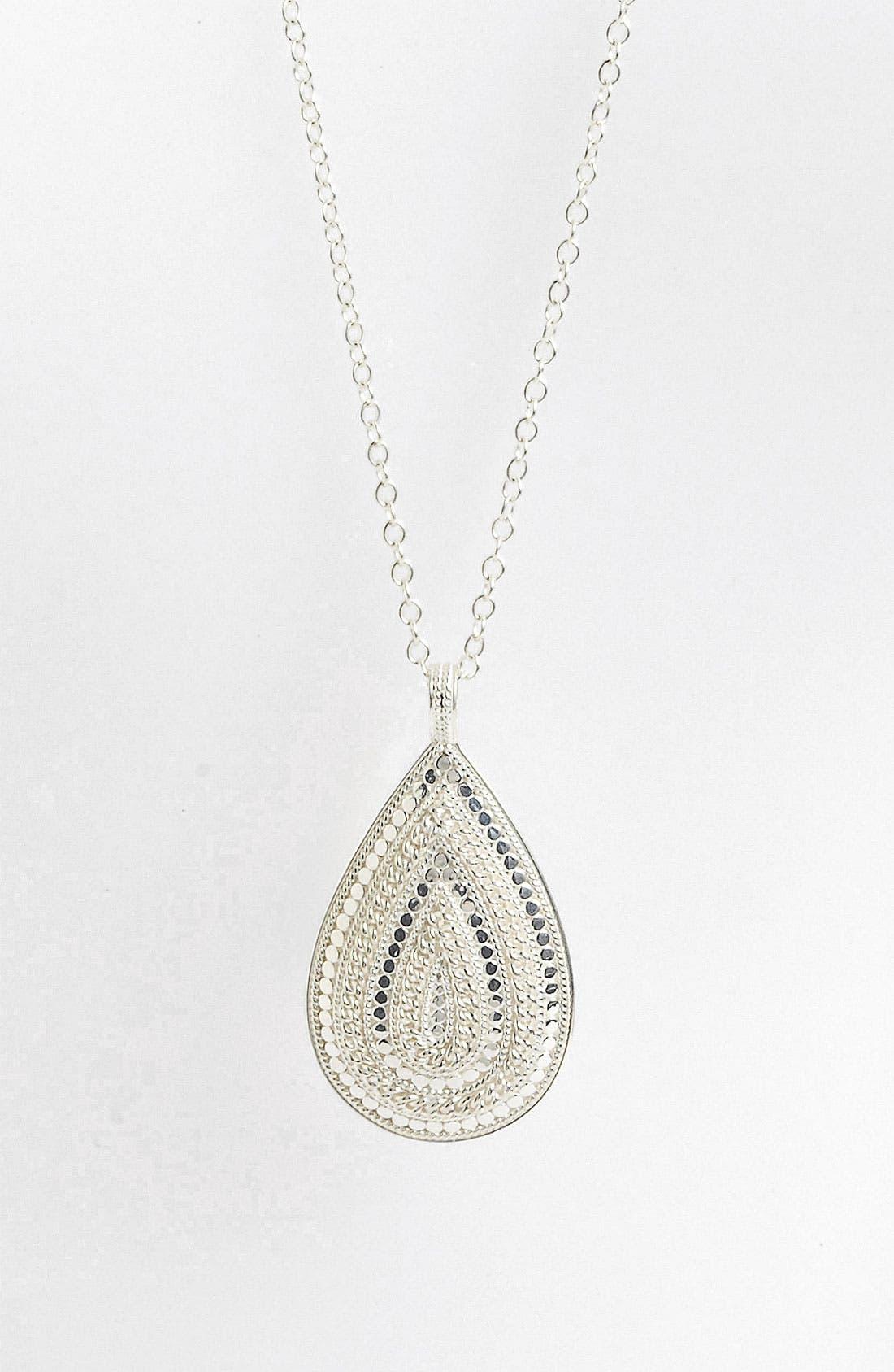 'Gili' Teardrop Pendant,                         Main,                         color, Sterling Silver