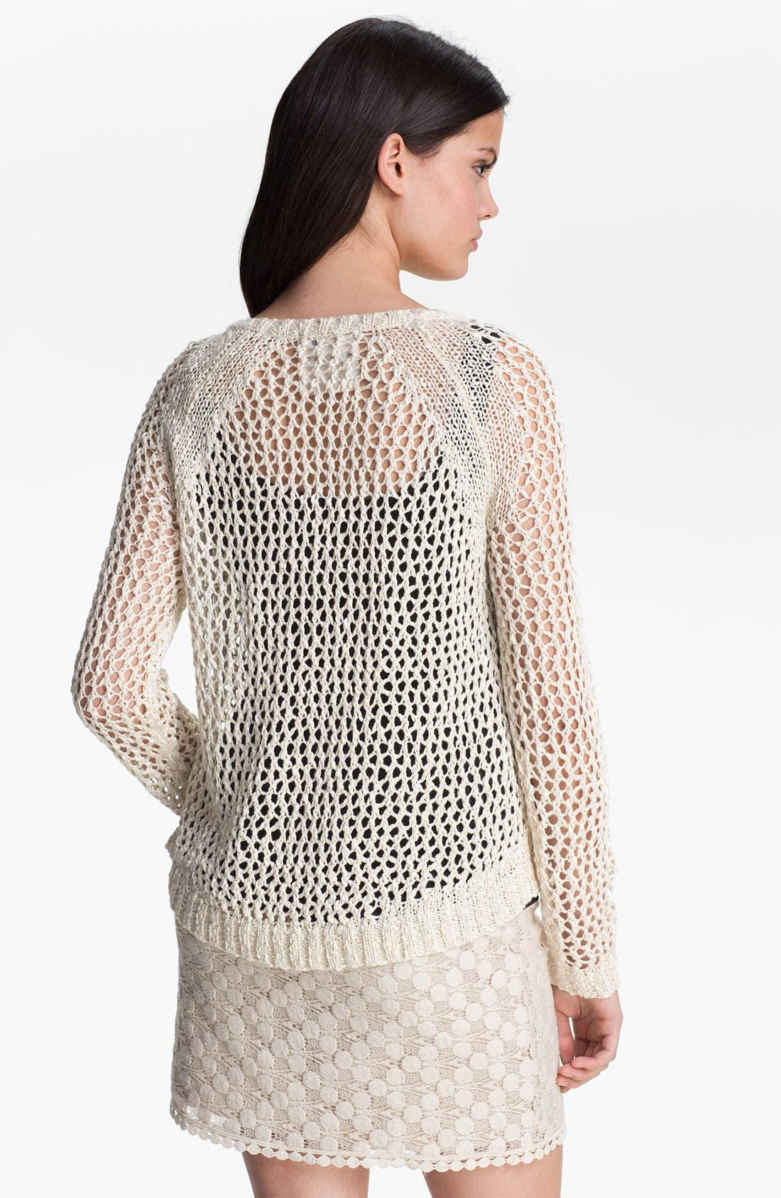 Alternate Image 2  - Kensie Open Stitch Sweater