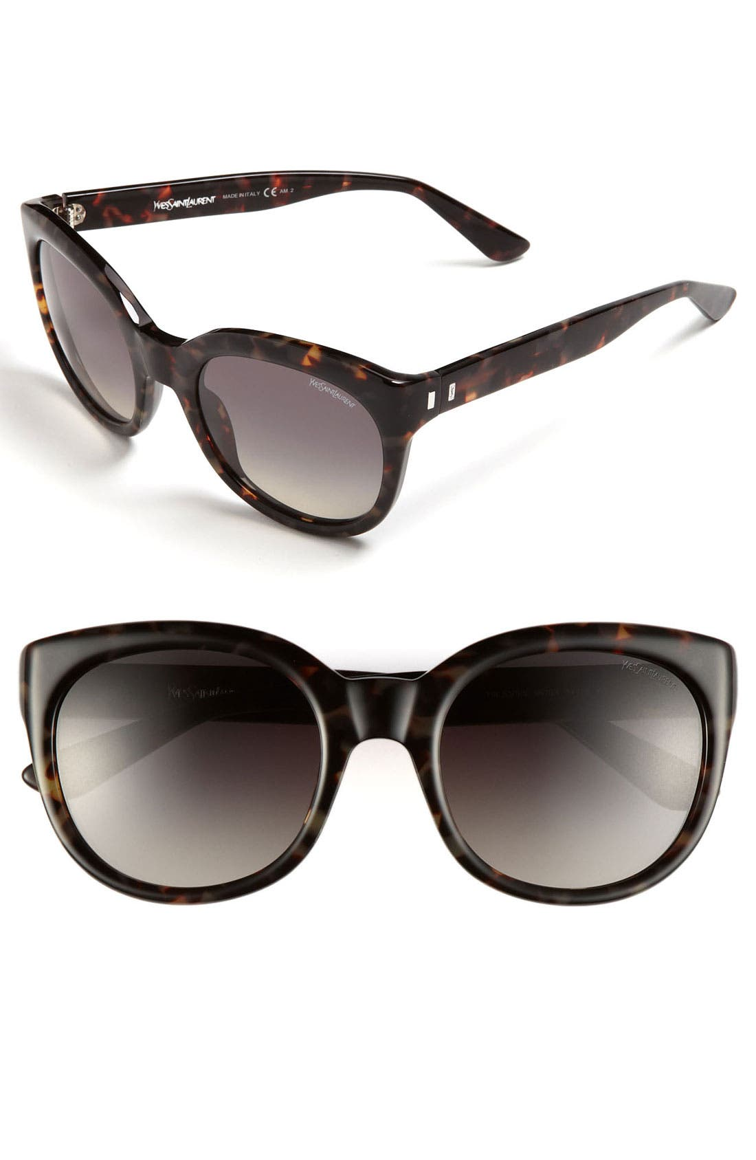 Saint Laurent Cat's Eye Sunglasses,                         Main,                         color, Havana Olive