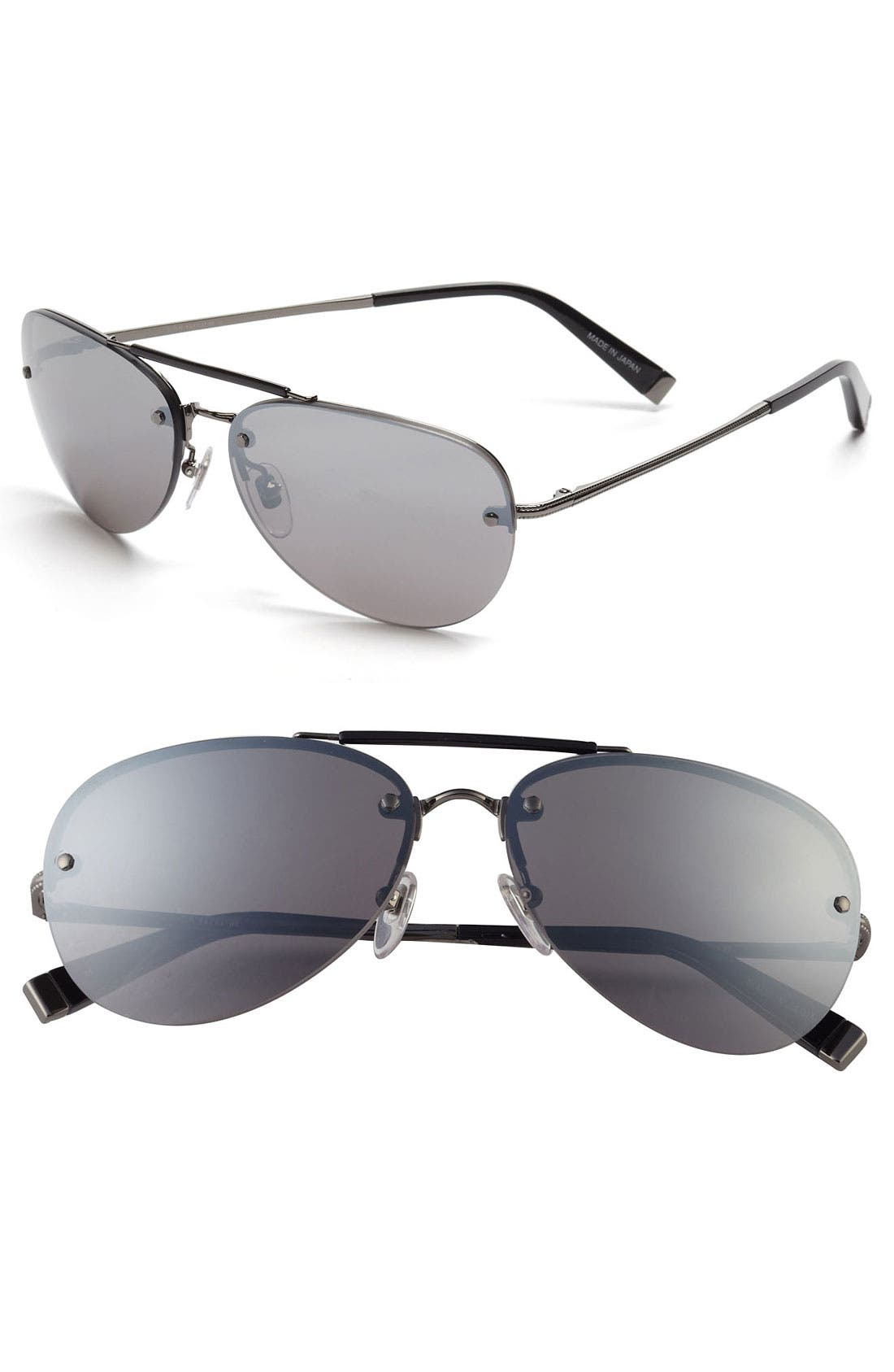 Alternate Image 1 Selected - John Varvatos Collection 59mm Aviator Sunglasses