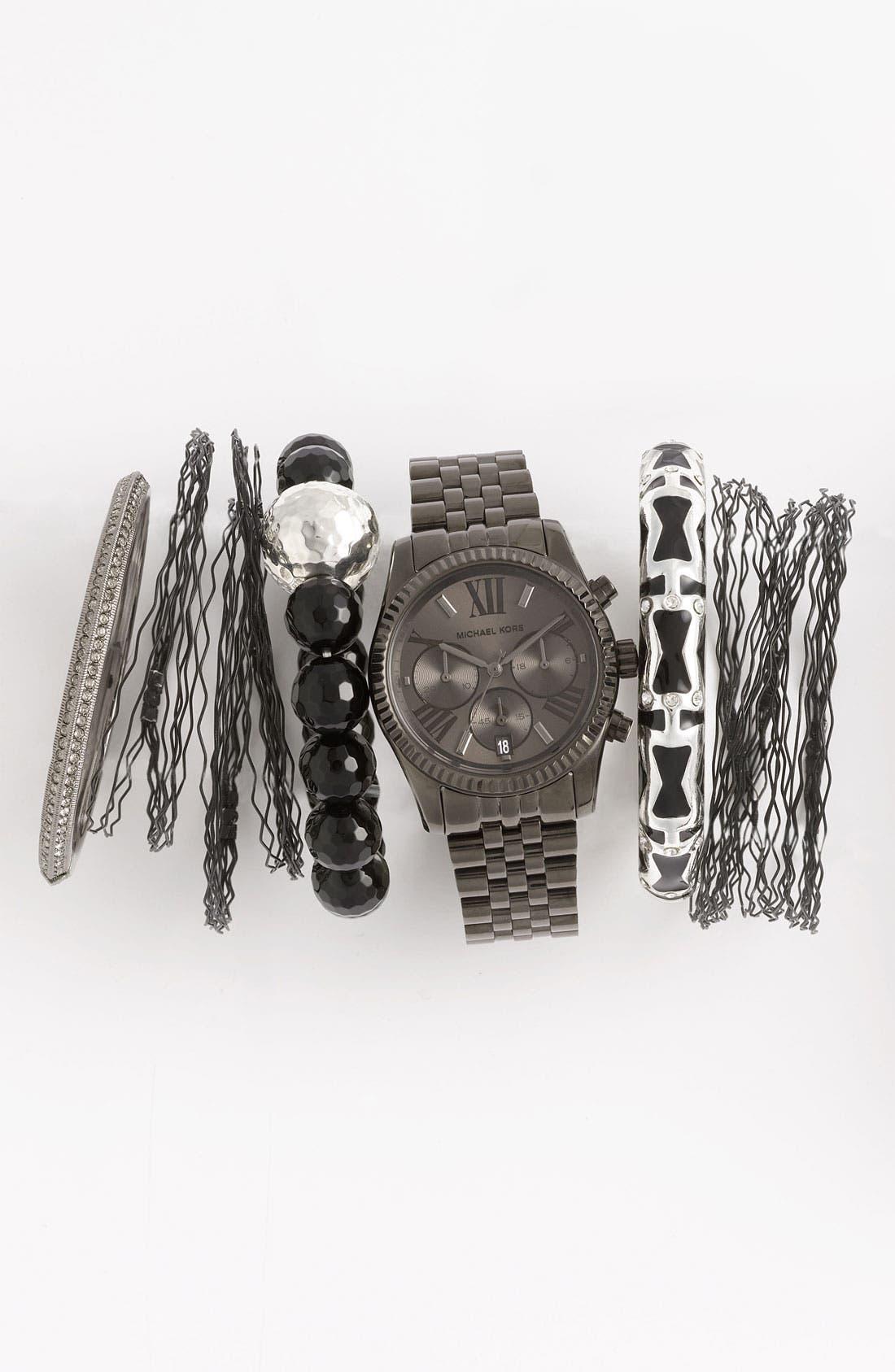 Alternate Image 3  - Michael Kors 'Lexington' Chronograph Bracelet Watch, 38mm (Nordstrom Exclusive)