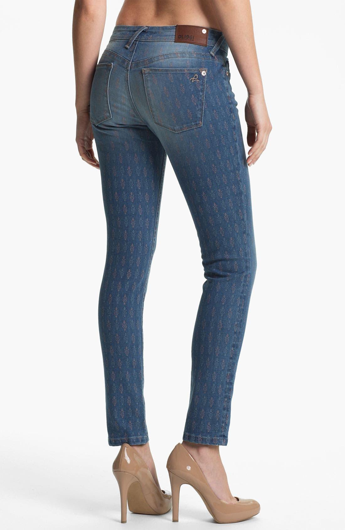 Alternate Image 2  - DL1961 'Amanda' X-Fit Stretch Print Denim Skinny Jeans (Greenville)