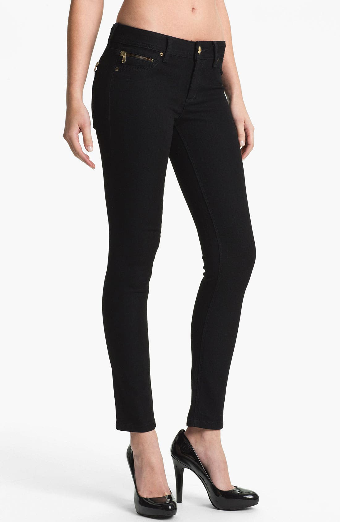 Alternate Image 1 Selected - DL1961 'Amanda' X-Fit Stretch Denim Zip Pocket Skinny Jeans (Lax)