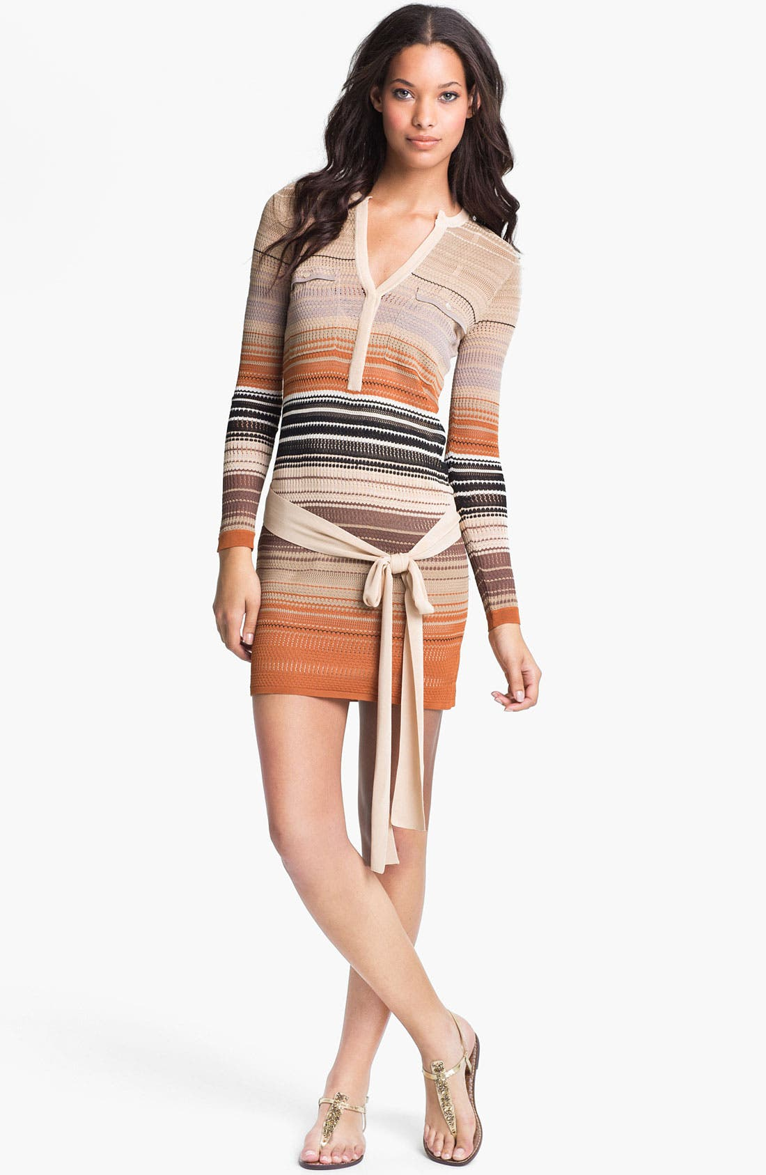 Main Image - Haute Hippie Stripe Pointelle Knit Dress