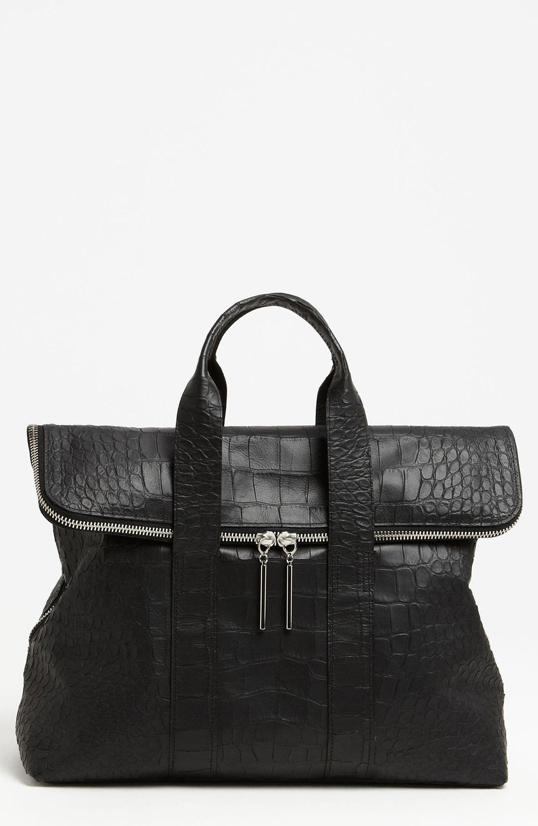 Alternate Image 1 Selected - 3.1 Phillip Lim '31 Hour' Croc Embossed Leather Tote