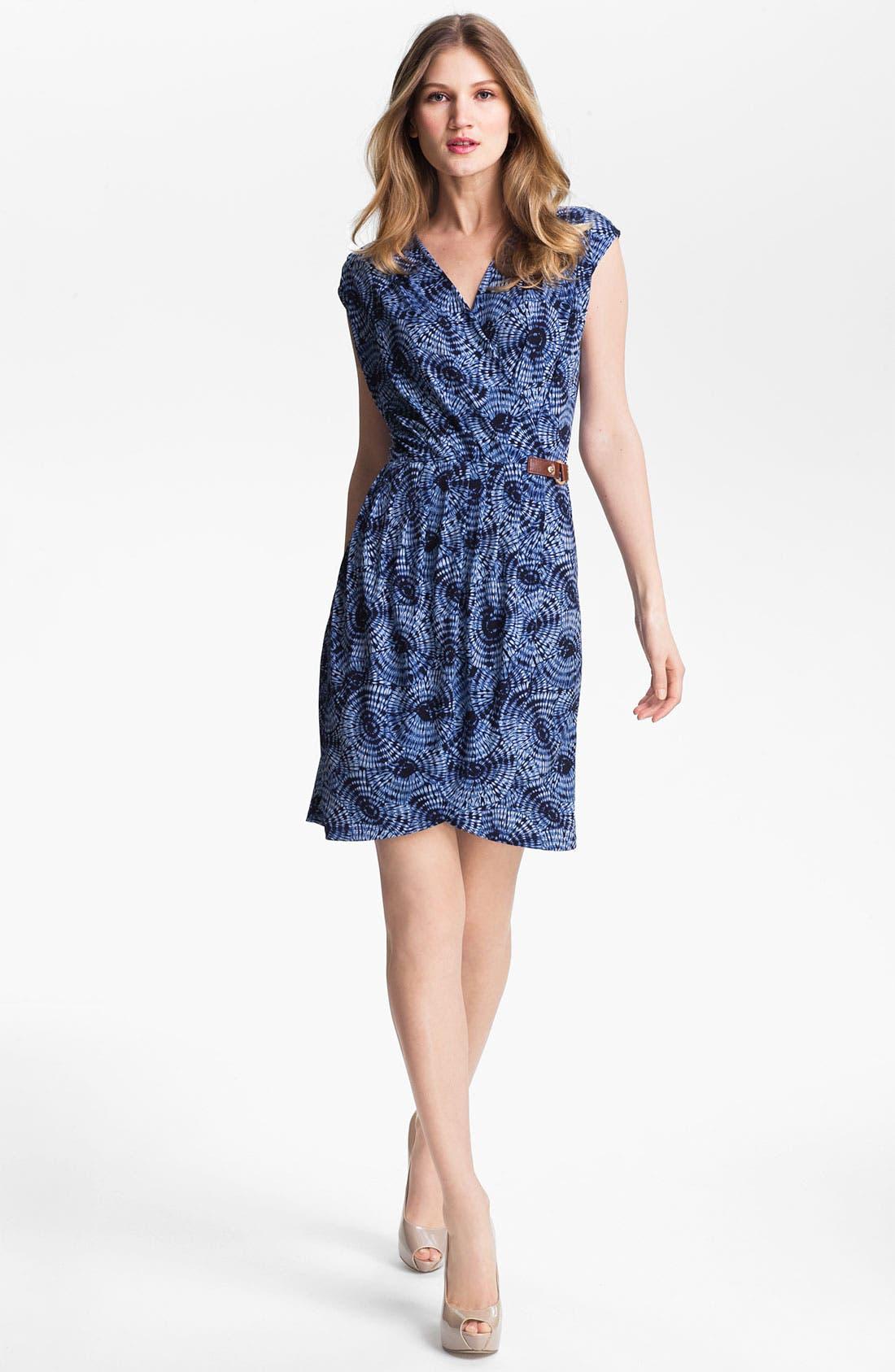 Main Image - MICHAEL Michael Kors Parasol Print Faux Wrap Dress