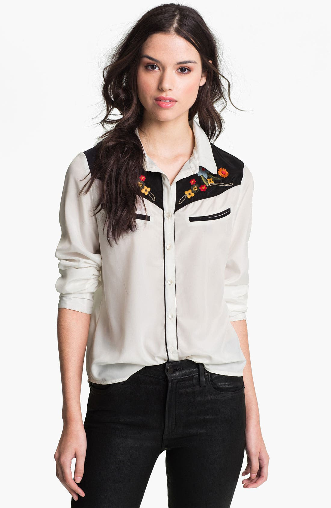 Alternate Image 1 Selected - Sanctuary Embroidered Western Shirt