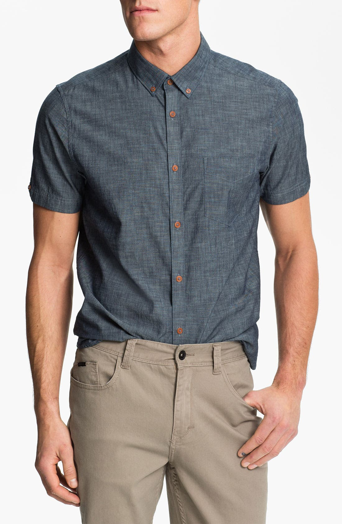 Alternate Image 1 Selected - Ben Sherman Short Sleeve Chambray Shirt