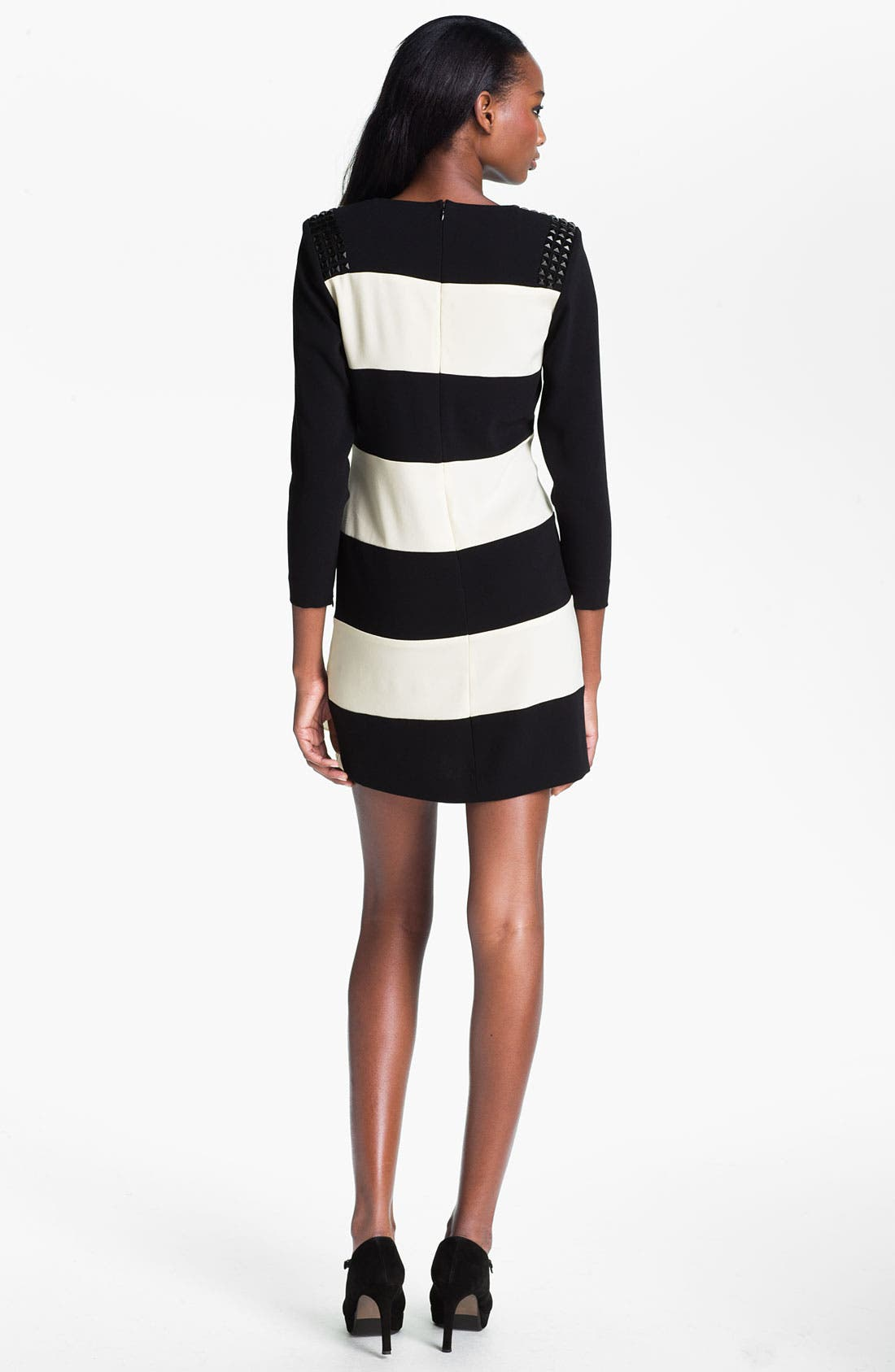 Alternate Image 2  - Skaist-Taylor 'Rosie' Stud & Stripe Dress