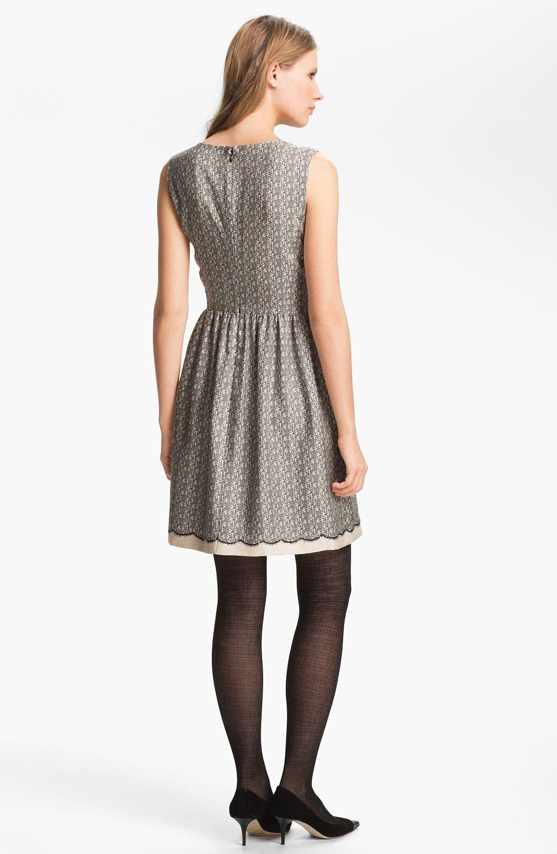 Alternate Image 2  - Miss Wu Lace Print Silk Twill Dress (Nordstrom Exclusive)