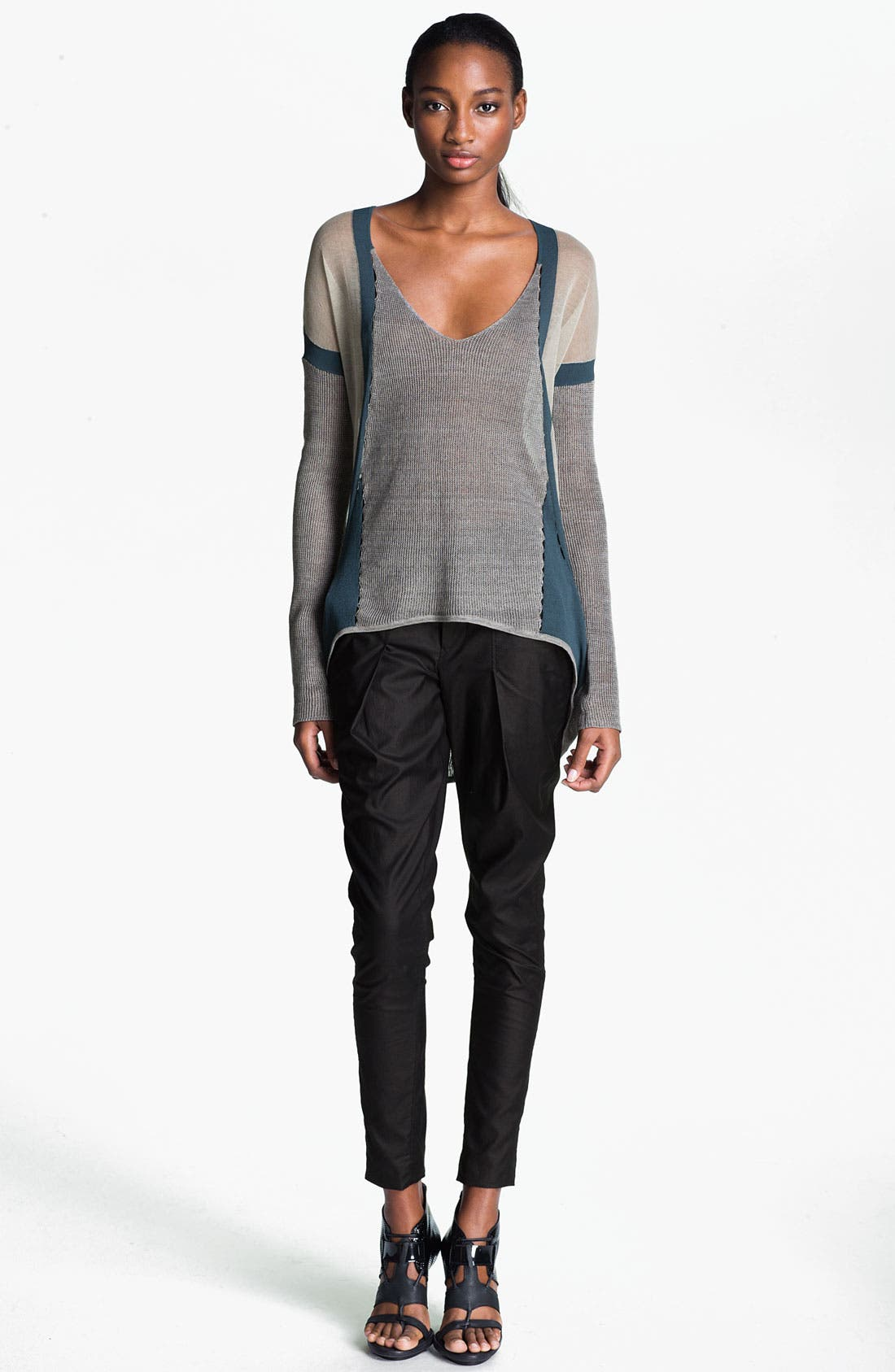 Alternate Image 4  - Helmut Lang 'Rift' Stretch Leather Crop Leggings
