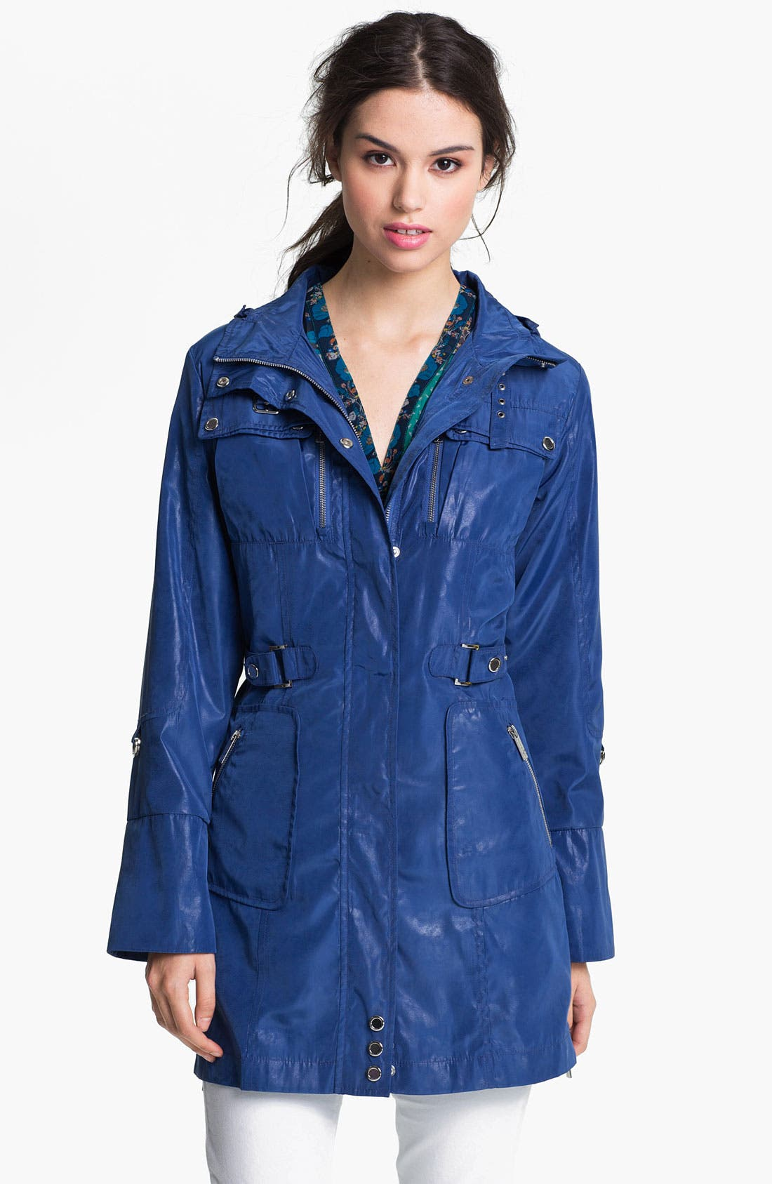 Alternate Image 2  - Via Spiga Safari Pocket Anorak with Detachable Hood (Online Only)