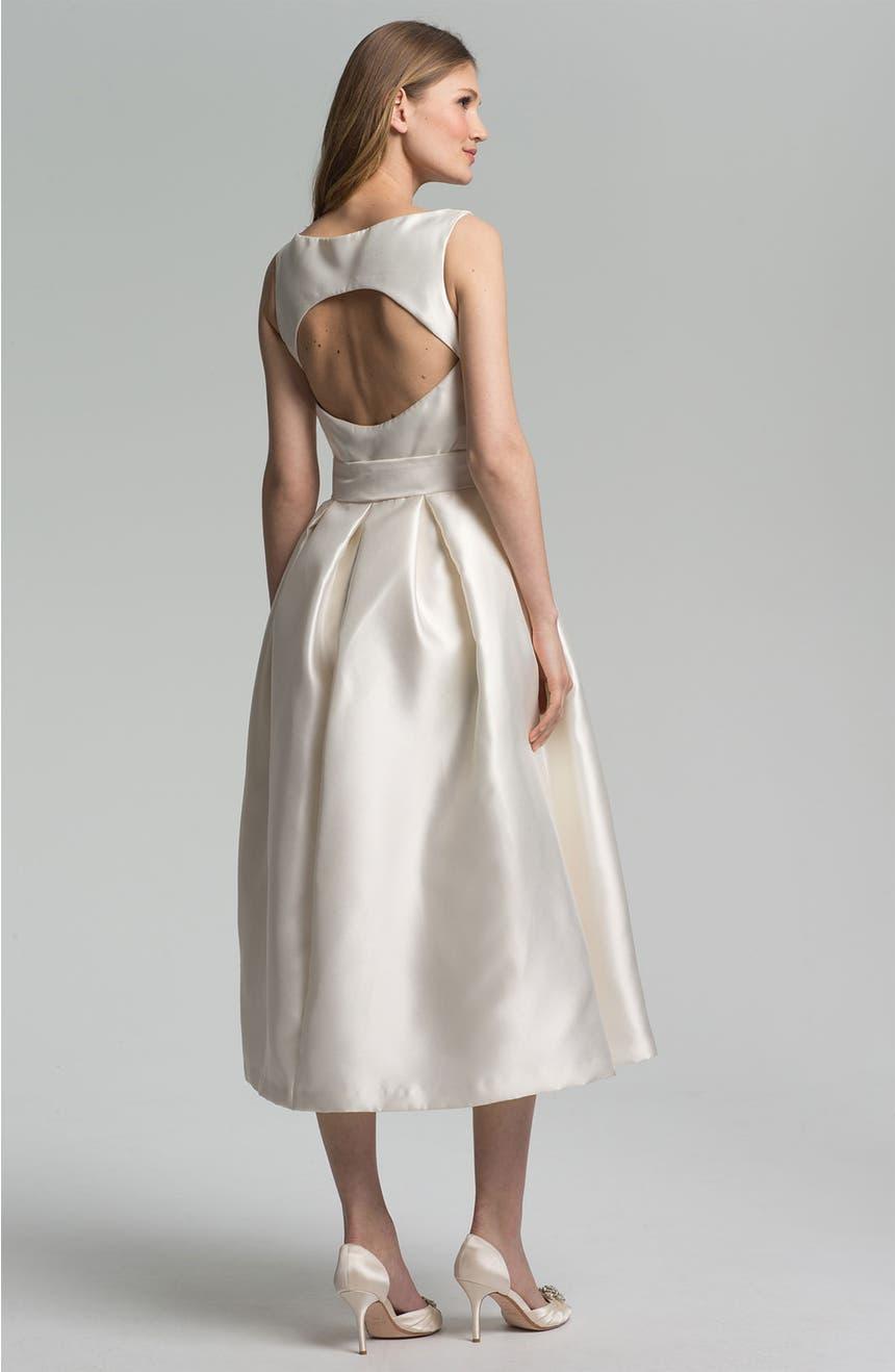 Isaac Mizrahi New York Faille Satin Fit & Flare Dress | Nordstrom