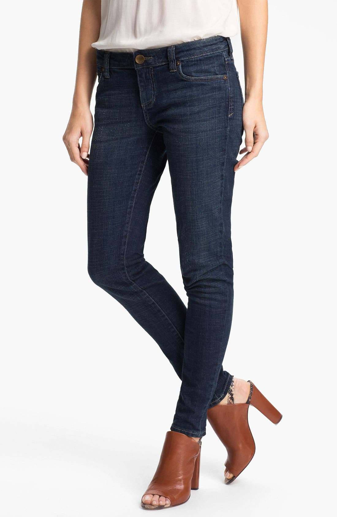 Main Image - KUT from the Kloth 'Mia' Toothpick Jeans (Natural)