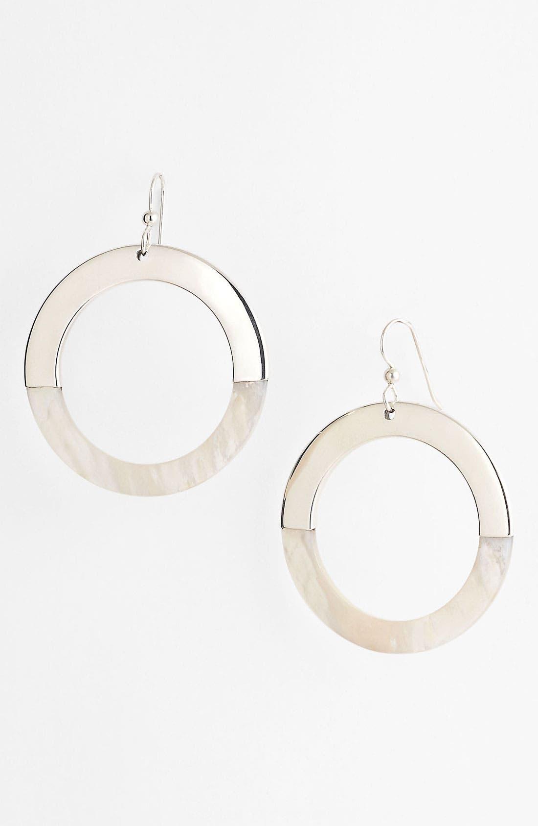 Alternate Image 1 Selected - Simon Sebbag 'Tahiti' Open Circle Shell Earrings