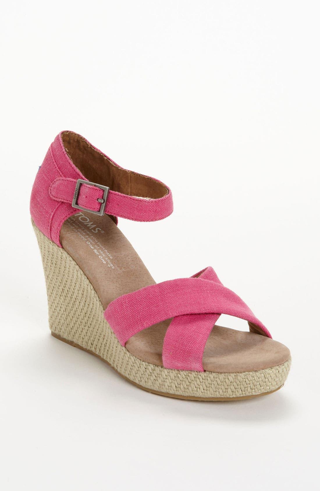 Alternate Image 1 Selected - TOMS Hemp Wedge Sandal