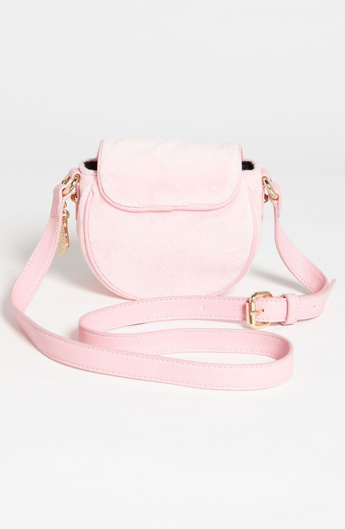 Alternate Image 4  - Juicy Couture Velour Crossbody Bag (Girls)