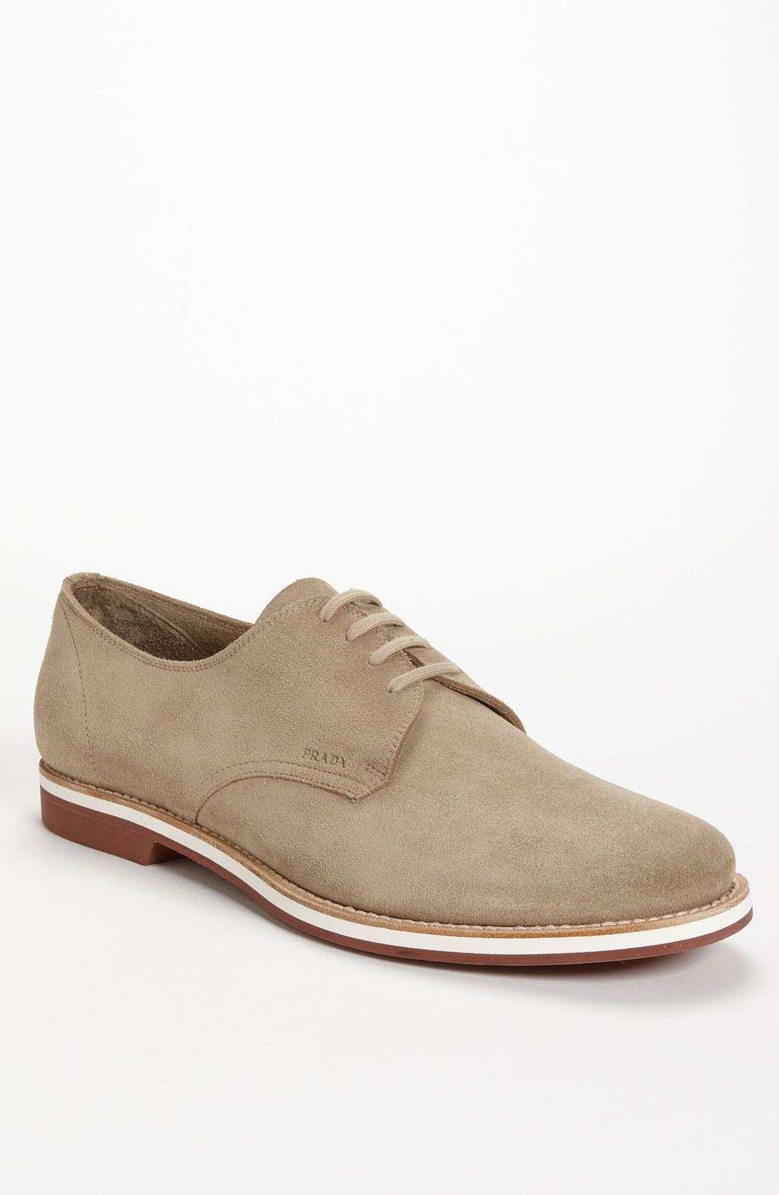 Alternate Image 1 Selected - Prada Suede Buck Shoe