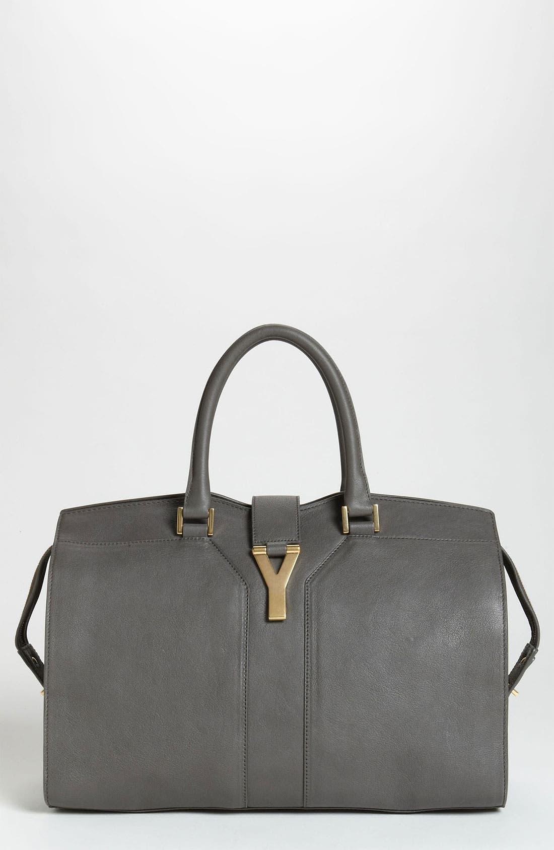 Main Image - Saint Laurent 'Ligne Y' Leather Satchel, Large