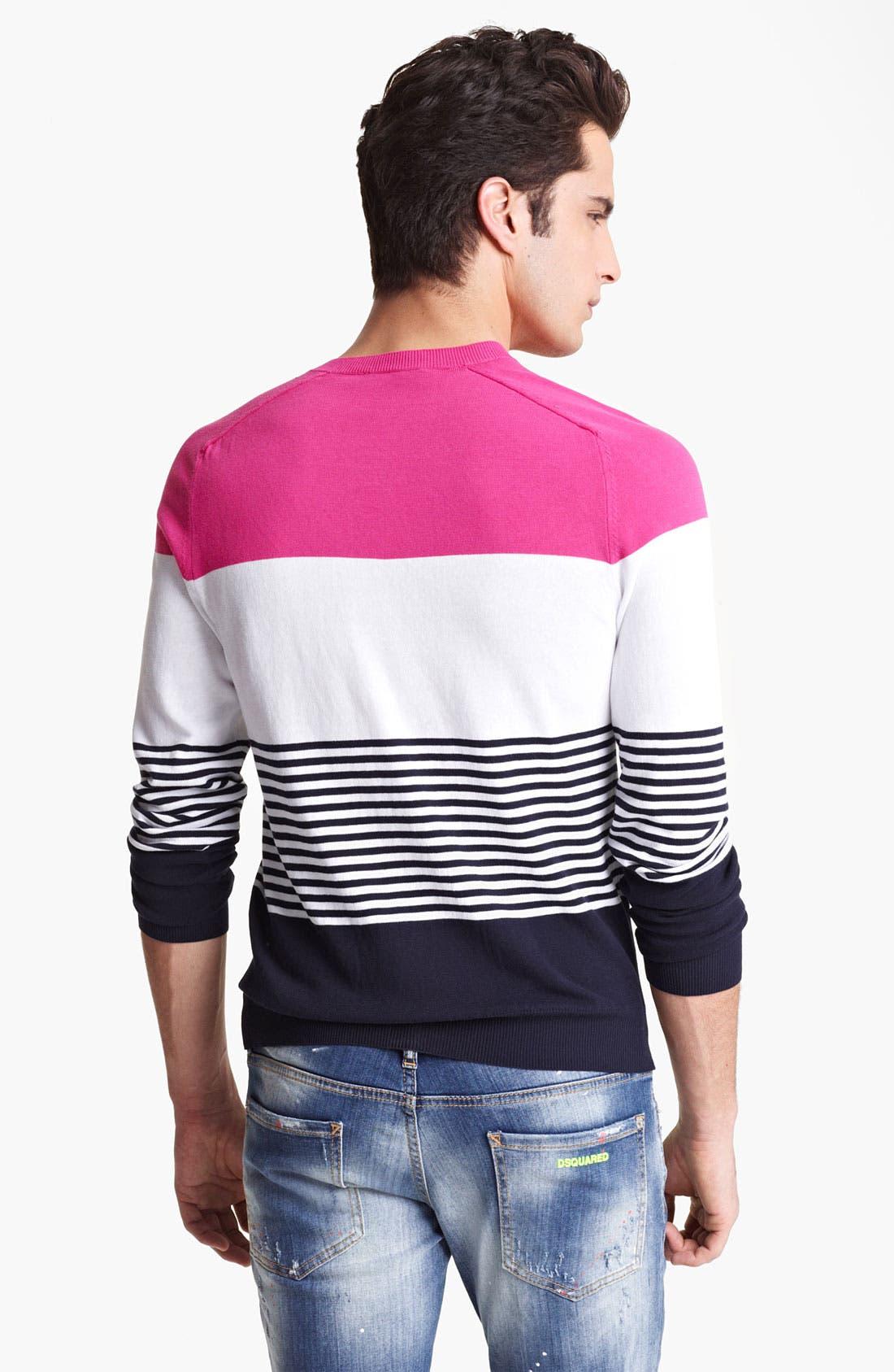 Alternate Image 2  - Dsquared2 Stripe Cotton Sweater