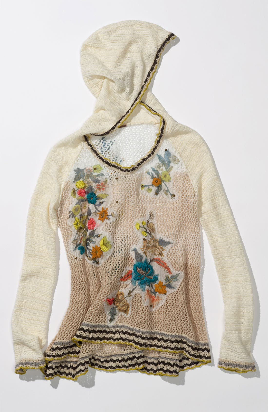 Alternate Image 4  - Free People 'Menagerie' Embroidered Crochet Sweater