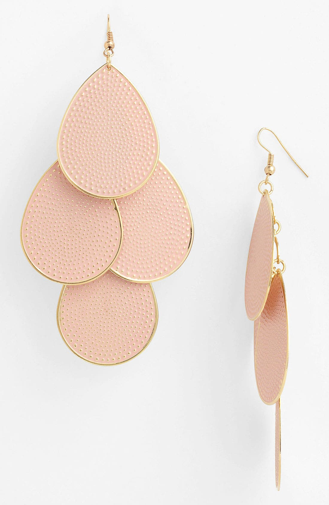Main Image - Natasha Couture Pastel Teardrop Earrings