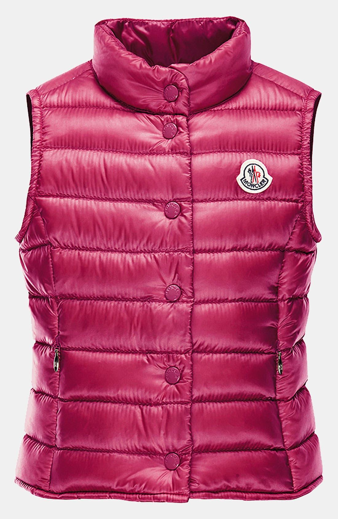 Alternate Image 1 Selected - Moncler 'Liane' Vest (Toddler, Little Girls & Big Girls)
