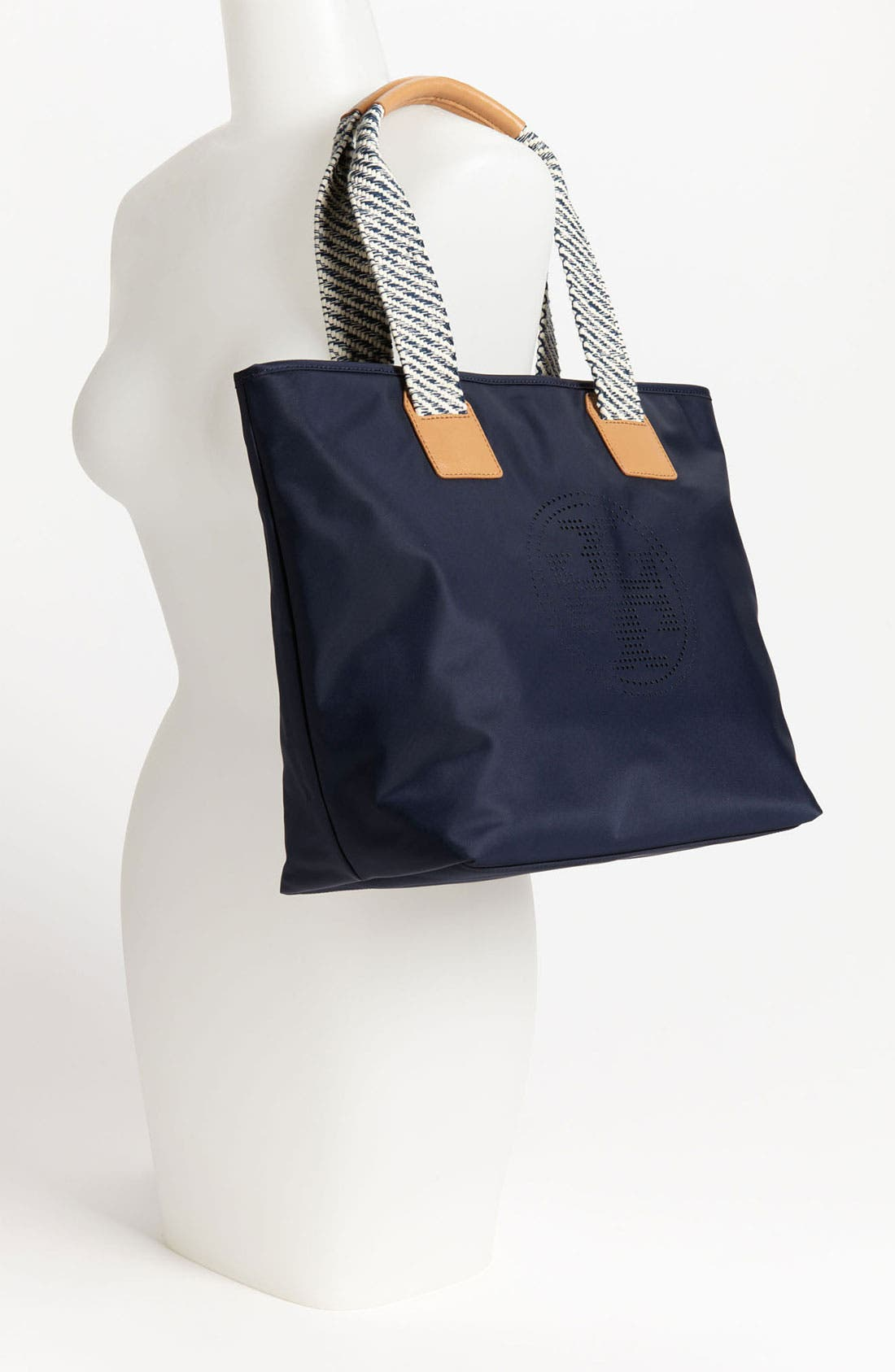 Alternate Image 2  - Tory Burch 'Small' Perforated Logo Tote