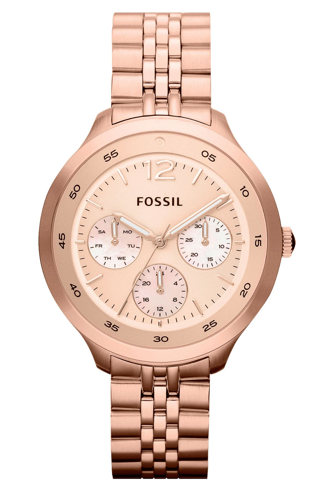 Alternate Image 1 Selected - Fossil 'Editor' Bracelet Watch, 38mm